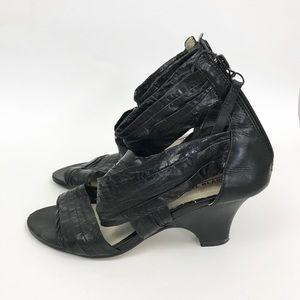 Anthropologie All Black 37 Leather Heels